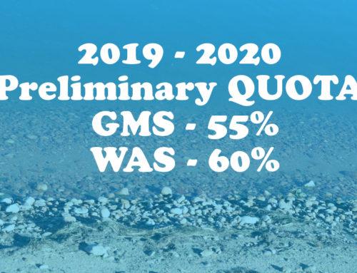 2019 Preliminary Quota