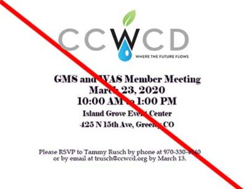 Member Meeting Canceled